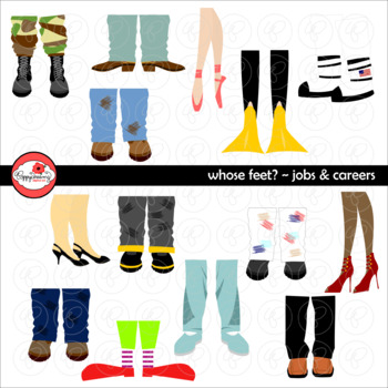 Whose Feet? Jobs Careers Clipart by Poppydreamz