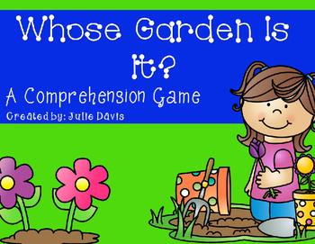 Whose Garden Is It? Comprehension Game Kindergarten