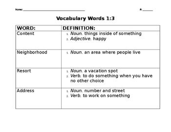 Whose Habitat Is It? Vocabulary