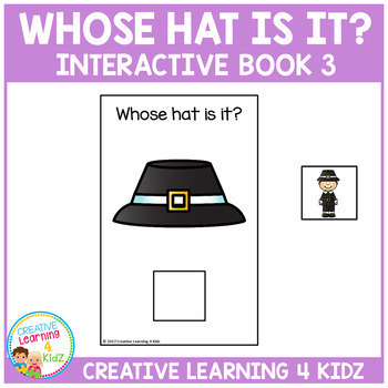 Whose Hat Is It? Interactive Book 3 Holidays