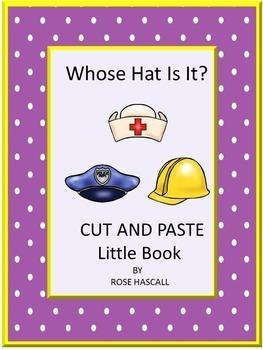 Community Helpers Whose Hat Is It? Kindergarten Matching C