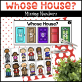 Whose House? Missing Numbers Activity
