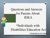 Whose IDEA Is This? Questions and Answers For Parents and