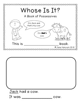 Whose Is It? A Book of Possessives