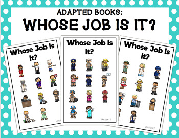 Whose Job Is It? Adapted Book Bundle