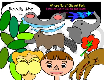 Whose Nose? Clipart Pack