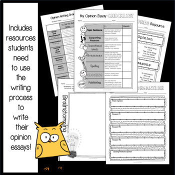 Whoo's Opinion Is It?: Opinion Writing Resource