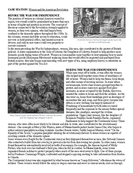 Whose Revolution? War for Independence & American Society Case Studies Activity