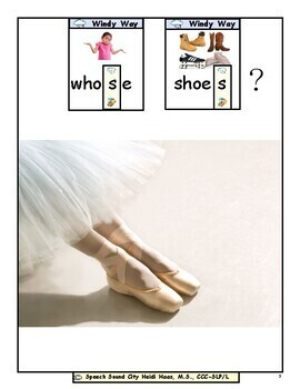 Whose Shoes?  Articulation Symbol Story by Speech Sound City