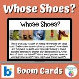Whose Shoes? Boom Cards™ Speech Therapy Language Activity Making Inferences