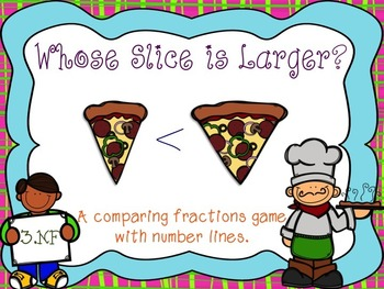 Whose Slice is Larger {Comparing Fractions w/Number Lines} 2 Extensions
