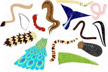 Whose Tail? Animal Clipart by Poppydreamz by Poppydreamz ...