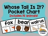 Whose Tail Is It? Animal Sort Pocket Chart (Accompaniment to Ten on a Sled)