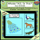 Whose Tail is This?  Zoo/Wild Animals (Boom Cards™, Digita