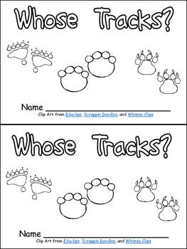 Whose Tracks? Emergent Reader- Kindergarten Science- Animal Tracks
