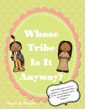 Whose Tribe Is It Anyway File Folder Game