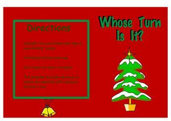 Whose Turn Is It? Christmas Theme Free (SMARTBoard)