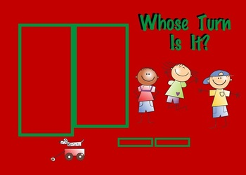 Whose Turn Is It? Stick Kids Theme Overlays Classroom Management (SMARTBoard)