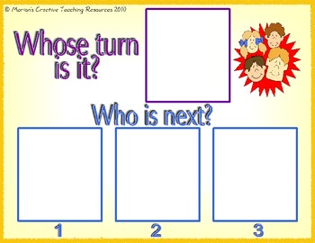 Whose Turn Is It {interactive display to help turn taking}
