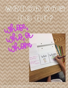 Whose, Who, and Whom Posters and Practice