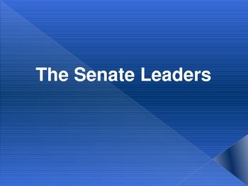 Whose Who in Congress? Congressional Leaders in the House & the Senate
