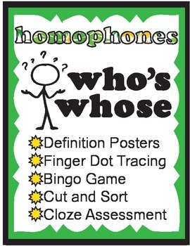 Who's, Whose Homophone Activities