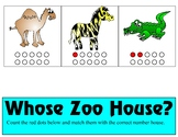 Whose Zoo House Ten Frame - Counting 0-10 Mats - Learning