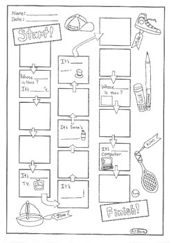 Whose is this? Design Your Own Game Worksheet