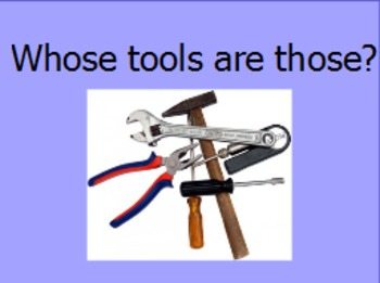 Whose tools are those a sorting activity for the community helpers theme