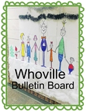 Whoville ~ The Grinch Bulletin Board and a bonus 8x11 coloring page