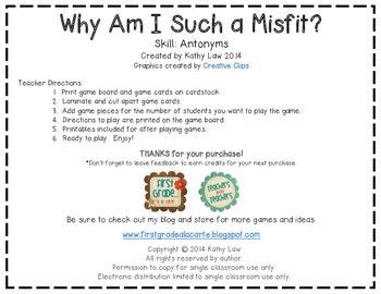 Why Am I Such a Misfit? - Antonyms