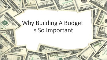 Why Building A Budget Is So Important Lesson