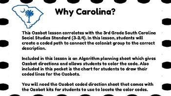 Why Carolina? Ozobot Lesson