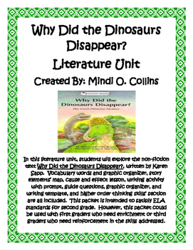 Why Did The Dinosaurs Disappear?  Literature Unit