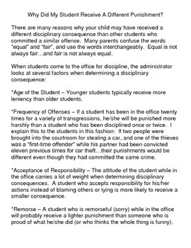 Why Did Two Students Who Broke The Same Rule Receive Different Punishments?