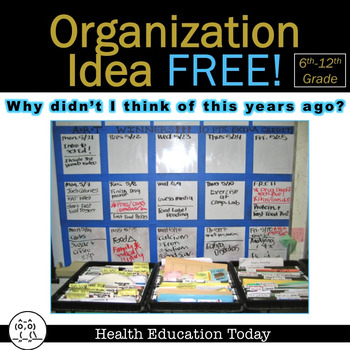 "Organization Idea FREE!: ""Why Didn't I Think of This Years Ago?"" Board Notes"