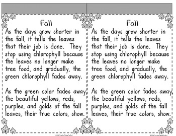 Why Do Leaves Change Colors Interactive Notebook