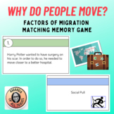 Why Do People Move? Push and Pull Factors of Migration Matching Memory Game
