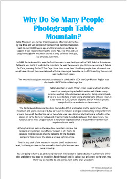 Why Do So Many People Photograph Table Mountain?