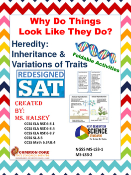Why Do Things Look Like They Do? Heredity: NGSS MS LS3-1, 3-1 (Editable)