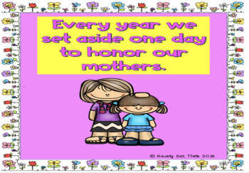 K, 1, 2, 3 Why Do We Celebrate Mother's Day? (ebook with make and take booklet)