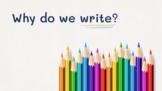 Why Do We Write? Where Do We See Writing? Intro to Writing