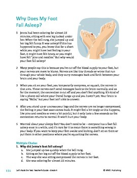 Why Does My Foot Fall Asleep? - Informational Text Test Prep