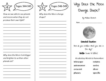 Why Does the Moon Change Shape Trifold - Wonders 4th Grade Unit 4 Week 4