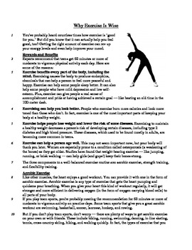Why Exercise is Wise - Informational Text Test Prep