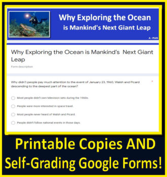 Why Exploring the Ocean is Mankind's Next Giant Leap - 7th Grade HMH Collections
