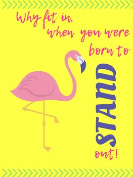 Why Fit In Flamingo Poster