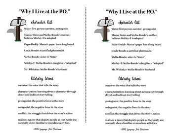 Why I Live at the P.O. by Eudora Welty Quiz and Activities