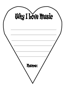 Why I Love Music Bboard Template