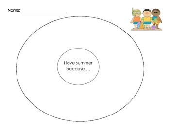 Why I Love Summer Writing Packet